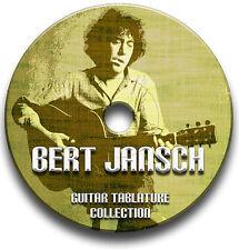 BERT JANSCH FOLK GUITAR TABS TABLATURE SONG BOOK SOFTWARE CD
