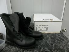 ADDISON MEN BOOT BLACK SAFETY SHOE STEELTOE SIZE 3.5 3 1/2 XW WIDE ADULT NEW