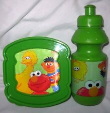 Sesame Street Big Bird,Elmo,Ernie 2-Piece Lunch Sandwich containers+water bottle