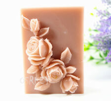 Rose S377 Silicone Soap molds Craft Molds DIY Handmade soap mould