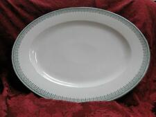 Tressemanes & Vogt TRV3, Green Geometric Rim, Gold: Oval Serving Platter 18 1/8""
