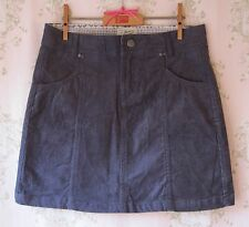 Rare! *New* MANTARAY Dark Denim Blue Stretch Cotton Cord Velvet Mini Skirt 12 M