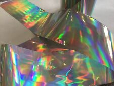 Nail art /holographic broken glass angel paper /foil Holo silver  1 meter length