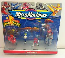 Micro Machines Power Rangers Red Ranger #1 New Dinozord Battle Bike Jason