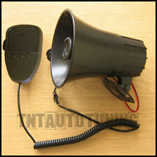 Acoustic 3 Tone Car Horn Siren with Microphone Announcer 12V 300dB Alarm Sounds