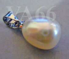18kgp Pendant Natural Pearl Single White Pearl Pendant for Necklace Mutiara Asli