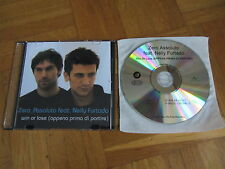 ZERO ASSOLUTO feat NELLY FURTADO Win Or Lose RARE GERMANY acetate CD single
