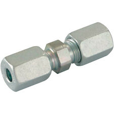 Hydraulic Compression Equal Tube Connector 10mm Pk4