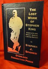 STEPHEN KING Lost Work of Stephen King SIGNED LETTERED Blue Leather Edition NEW!