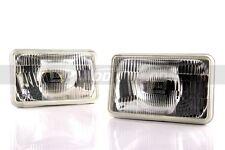 1pr DDM 4656 Sealed Beam Chrome Conversion Headlight Lamp 165mm rectangular