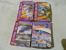 NEW SEALED SEGA GAME GEAR LOT SONIC SPINBALL 2 BATTLETANK DEEP DUCK TROUBLE NIB