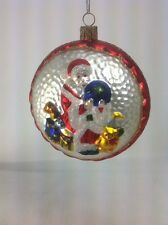 Waterford Crystal Holiday Heirlooms Santa Claus Globe Hand Blown Glass Ornament