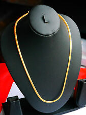 Real 22k Gold plated necklace Chain  MENS LADIES CHAIN u100
