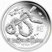 Australia 2013 Year of the Snake Chinese Lunar Zodiac $1 1 Oz Pure Silver Proof
