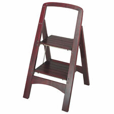 Adult Step Stool Folding Kitchen Wood Cosco Small Library Safety Rail Household
