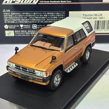 1/43 Hi-Story GICO Toyota HILUX 4WD SURF SSR 1985 Gold / White HS161GL