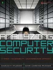New-Analyzing Computer Security by  Charles P. Pfleeger 1ed INTL ED