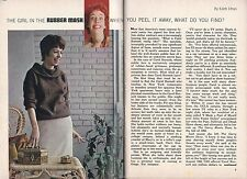 1963 TV ARTICLE~CAROL BURNETT~SIGNS MILLION DOLLAR CONTRACT~RAUCOUS FEMALE COMIC