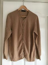 Ladies Marks And Spencer 100% Cashmere Beige Cardigan Size 18 Large M&S RRP £89