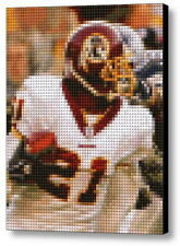 Washington Redskins Sean Taylor Lego Brick Framed Mosaic Limited Ed Art Print