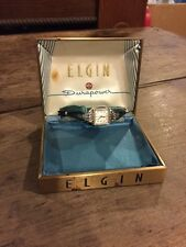 Vintage ladies Elgin Durapower Watch In Original Box. 10k RGP Bezel