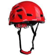 Unisex Mountaineering Helmet Safety Climbing Rappelling Protect Gear Red
