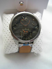 DIESEL WATCH MACHINUS DZ7359 BLACK DIAL STAINLESS STEEL QUAD TIME ZONE BNIB