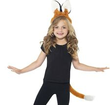 Childrens Fancy Dress Fox Set, Ears on Band & Tail Animal Set by Smiffys New