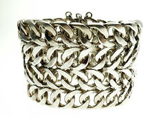 Heavy Sterling Silver Link Bracelet 7.5 inches in Length