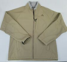 Nike ACG Jacket Mens L SOFT SHELL Rain Windbreaker Fleece Lined Khaki
