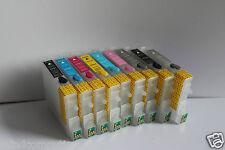 Wiederbefüllbares Refill SET 9x  Epson Stylus Photo R2400 ARC CISS leer NON OEM