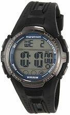 Timex T5K359 Ironman Marathon Digital Mens Watch INDIGLO Backlight Black - New
