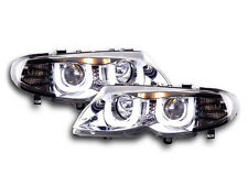 BMW 3 E46 Estate / Sedan/ Touring 02-05 Chrome 3D Angel Eyes Headlights Pair RHD