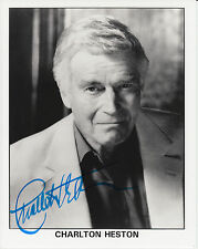 Photograph signed by actor ~ Charlton Heston