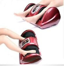 Red Burgundy Shiatsu Kneading and Rolling Foot Leg Massager Calf Ankle w/ Remote