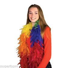 Pride Rainbow LGBT Multi color  Fancy Feather Boa Party supplies and Decorations