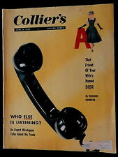 Collier's Magazine June 10, 1955 ELECTRONIC EAVESDROPPING -CHRISTIAN DIOR more