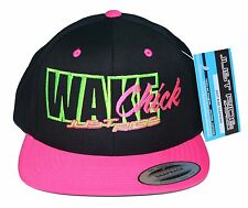 WAKE CHICK JUST RIDE WAKEBOARD HAT CAP FLAT BILL SNAPBACK PINK BOAT BALLAST ROPE
