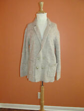Vintage Christian Dior Womens Size L Beige Wool Blend Cardigan Sweater