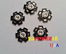 5pcs 5W 940nm Infrared IR LED Chip W/ 20mm Star Bead 1.3V-1.6V 1400mA -Invisible