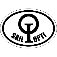 Opti / Optimist Sailboat Boat  SAIL OPTI Oval Decal by Miami Opti Moms