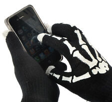"""1Pair Black Touch Screen Gloves Hand Bone For Smartphone Tablet 7 7/8""""x4 6/8"""""""