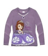 BNWT Girls Disney Sofia the First Long Sleeve T-Shirt mauve size 5 Years