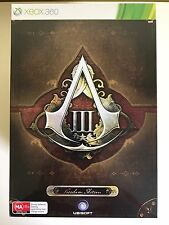 ASSASSIN'S CREED 3 III FREEDOM COLLECTOR'S EDITION XBOX 360 XBOX360 NEW & SEALED
