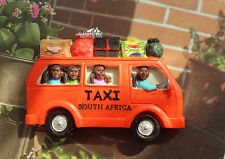 Taxi in South Africa Tourist Travel Souvenir 3D Resin Fridge Magnet Craft Orange