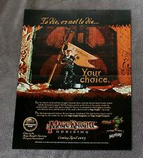 Mage Knight Uprising 2003 Marquee Wizkids Action Figure Comic PROMO Poster VF