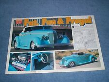 "1936 Ford Roadster Street Rod Article ""Fat, Fun & Frugal"""