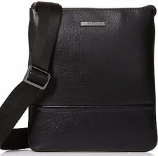 HUGO Hugo Boss Men's Element S Zip Pouch Messenger Bag 50316881 Black Zip Up