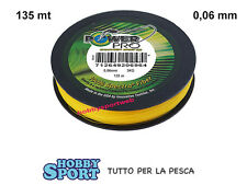 POWER PRO FILO TRECCIATO MT 135  0,06 HI-VIS YELLOW  originale USA - AREA TROUT