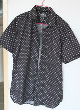 """Industrie"" Dark Blue Round Dot Casual Shirt"